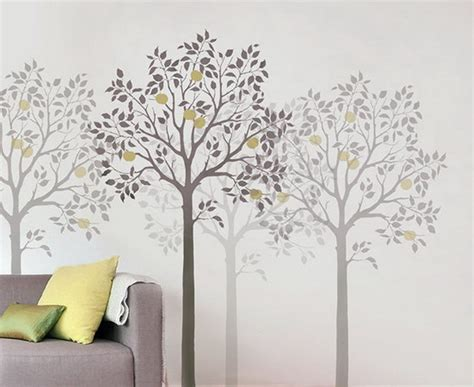 tree wall decor ideas wall stencils for home decor wallpaper mural ideas