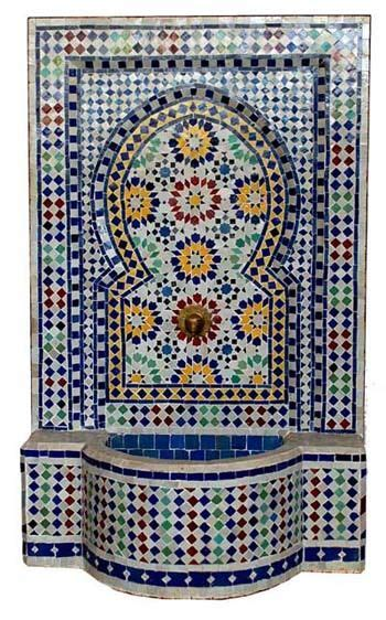 images  morocan fountains  pinterest wall