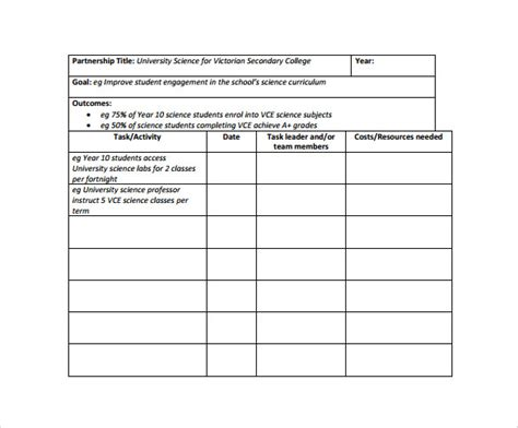 work plan template excel 18 sle work plan templates to sle templates