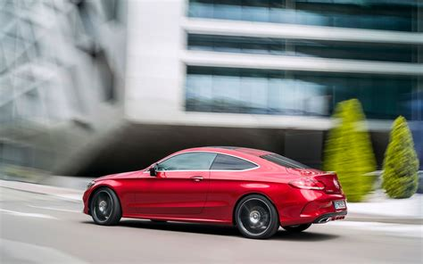 2018 Mercedes Benz C Class Coupe Hyacinth Red Motion