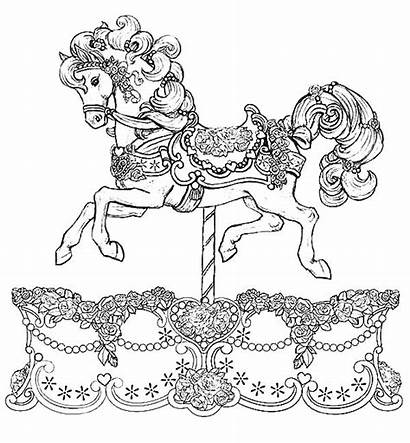 Carousel Coloring Horse Pages War Gypsy Drawing