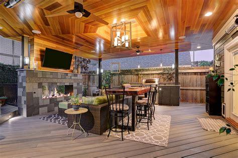 contemporary outdoor living room  montrose texas custom patios