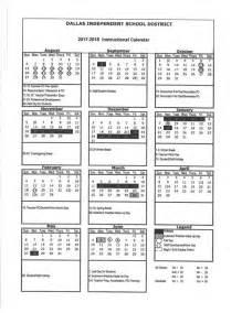 School Calendar for 2017 2018 for ISD