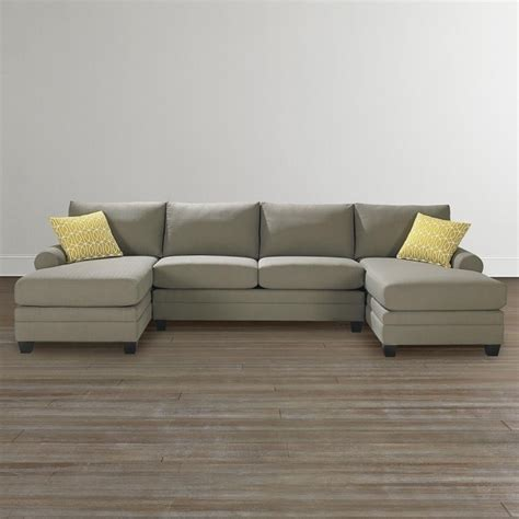 dual chaise sectional furniture reclining sofa