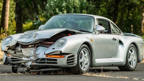 For Sale In Usa by Busted Up Porsche 959 Sold At Auction For 425 000