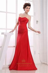 red strapless bridesmaid dresses long empire waist With long red dress for wedding