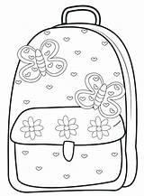 Coloring Supplies Backpack Bag Getcolorings Printable Illustration sketch template