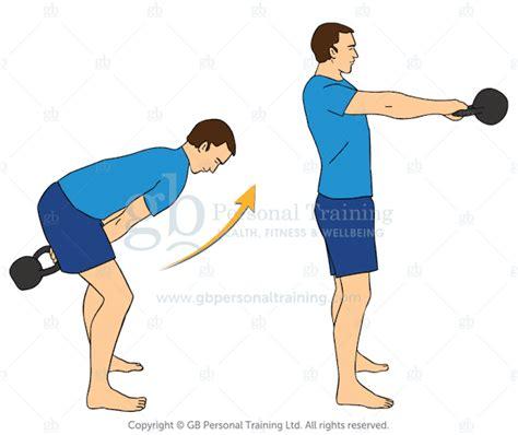 kettlebell swing exercises handed exercise hands advanced beginner single using training muscles