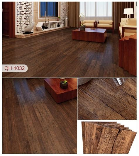 adhesive pvc carpet  wood grain plastic floor tiles