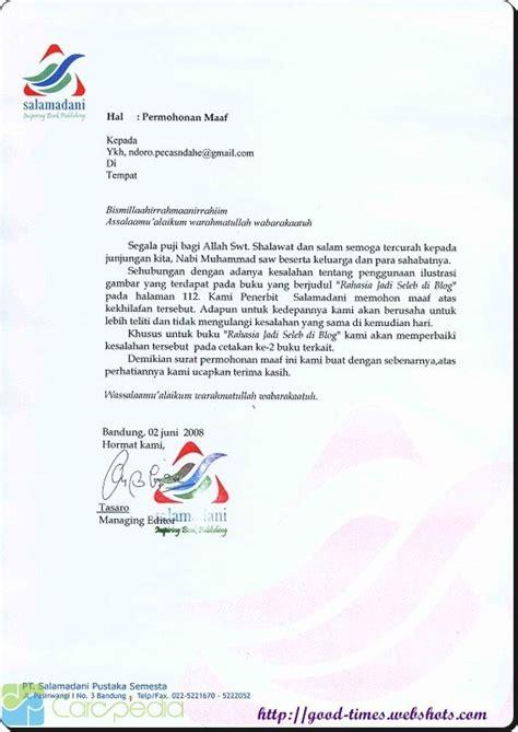 contoh surat pernyataan permohonan maaf most demanded