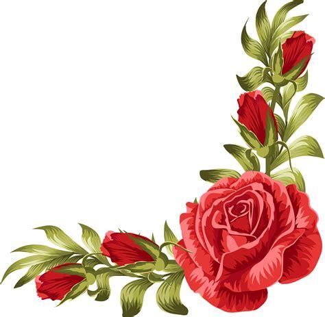 wedding invitation rose flower leaf rose border png
