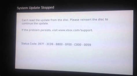 xbox  system update error  cd        boot games youtube