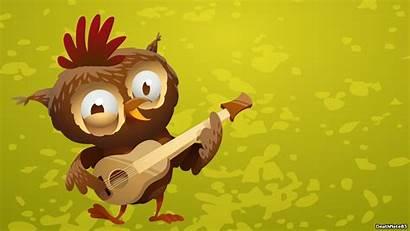 Cartoon Funny Owl Scooby Christmas Doo Guitar