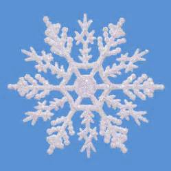 glitter snowflake ornaments 4 inch pearlized white snowflakes