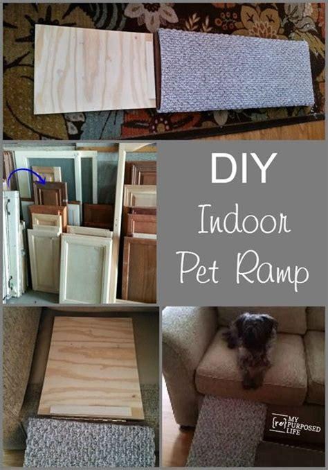 diy indoor pet ramp repurposed cabinet door
