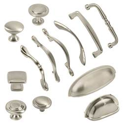 brushed satin nickel kitchen cabinet hardware knobs bin