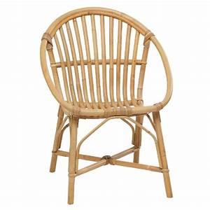 Fauteuil Rond Rotin : fauteuil en rotin naturel coquille vintage bruno ~ Melissatoandfro.com Idées de Décoration