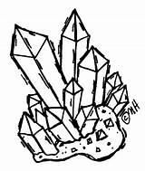 Cristales Crystalsrock Cuarzo sketch template