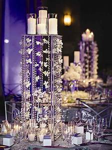 Romantic, Wedding, Centerpieces, With, Candles