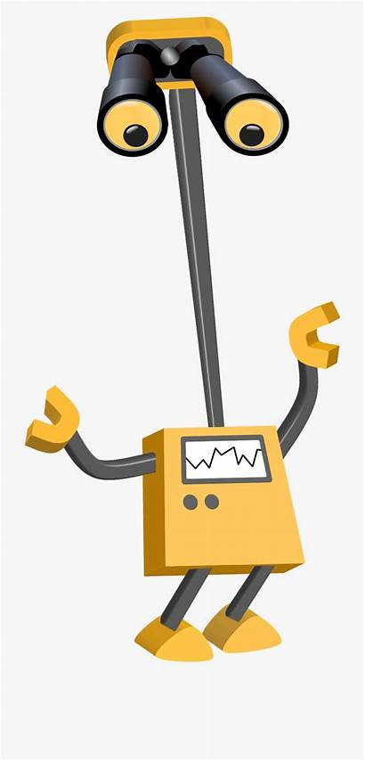 Robot Clipart Bot Transparent Background Webstockreview Binocular