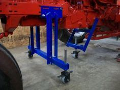 homemade post hole auger stand    role