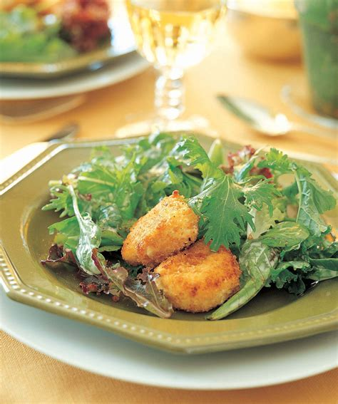 salad with warm goat cheese recipe food recipes salad