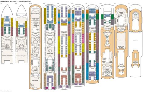 Ruby Princess Deck Plans Pdf by Princess Deck Plans Diagrams Pictures