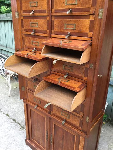 metier de bureau cartonnier classeur meuble de bureau en acajou époque