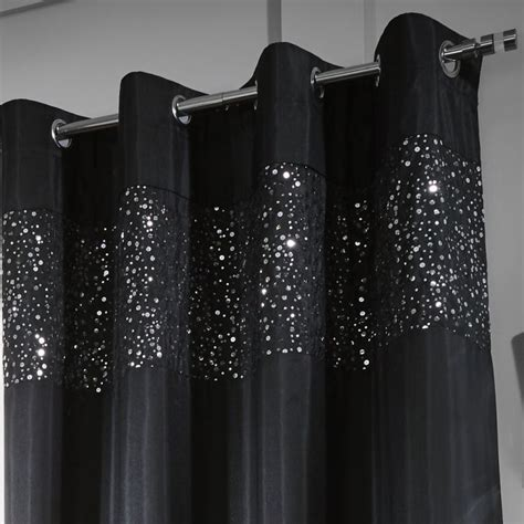 black sequin curtains glitzy sequin fully lined eyelet curtains black