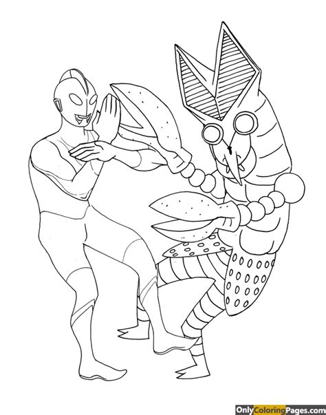Coloring Ultraman Pictures by Ultraman Tiga Coloring Pages Free Printable