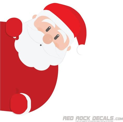 peeking santa figure sticker easily removable redrockdecals