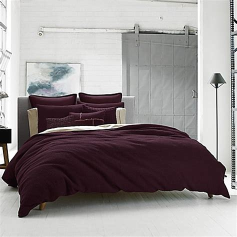 kenneth cole reaction home waffle duvet cover bed bath