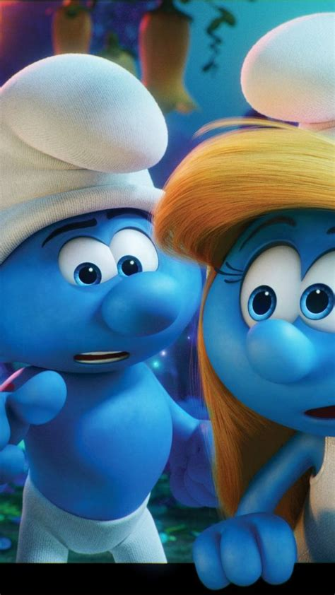 wallpaper  smurfy  animation movies   blue