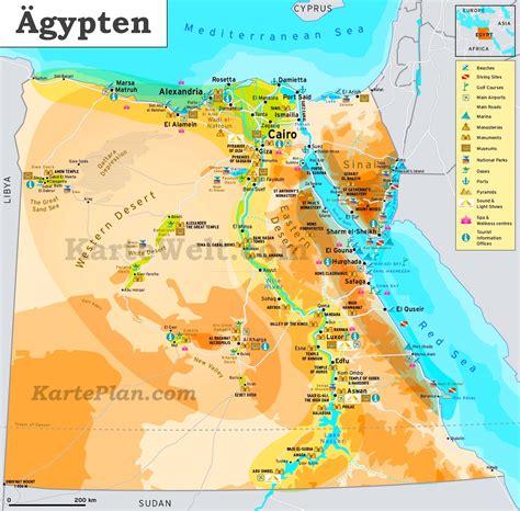 touristische karte von aegypten