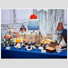 Vintage Nautical Dessert Table  Save The Date For Cupcakes