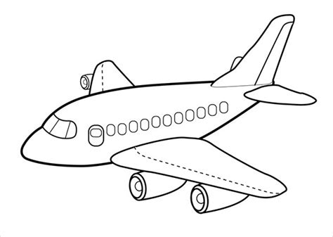 airplane coloring pages  jpg  premium