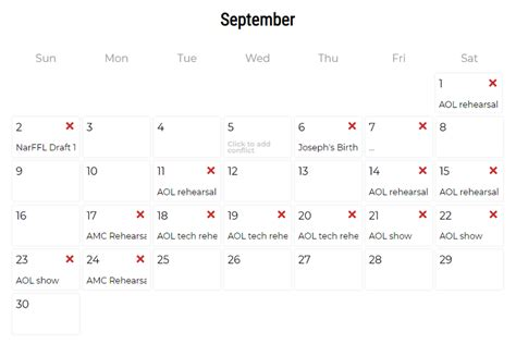 Conflict Calendar Template by Conflict Calendar Template Gallery Template Design Ideas