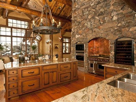 Log Home Luxury Kitchen- Perfect!