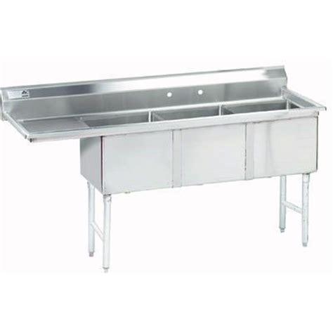 3 compartment kitchen sink advance tabco fc 3 1818 18l three compartment kitchen