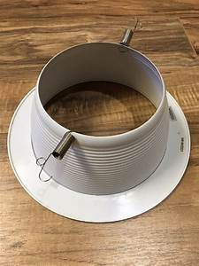 6 In  White Recessed Baffle Trim With 130v Light Bulb