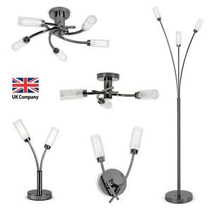 matching black chrome led ceiling wall lights touch table