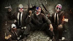 guns, money, clowns, artwork, PayDay :: Wallpapers