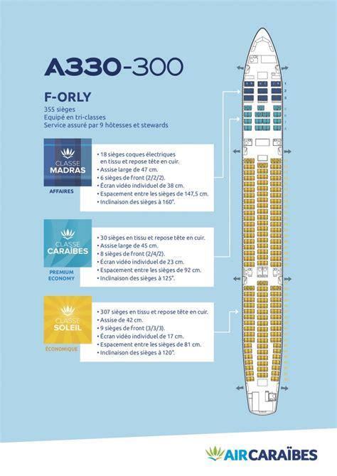 reservation siege vol air caraibes plan cabine de notre airbus a330 300 air caraïbes