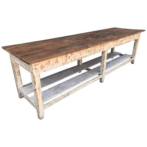 antique kitchen island table french antique drapers bakers table or kitchen island at 1stdibs