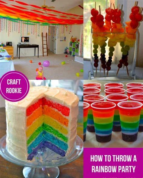 craft rookie   throw  rainbow party
