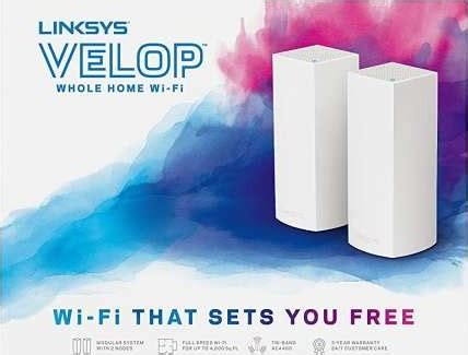 linksys whw0302 velop tri band ac4400 whole home wifi mesh