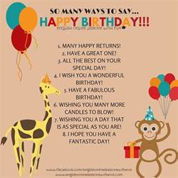 many ways to say happy birthday