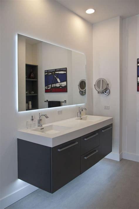 inspirations large frameless bathroom mirror mirror ideas