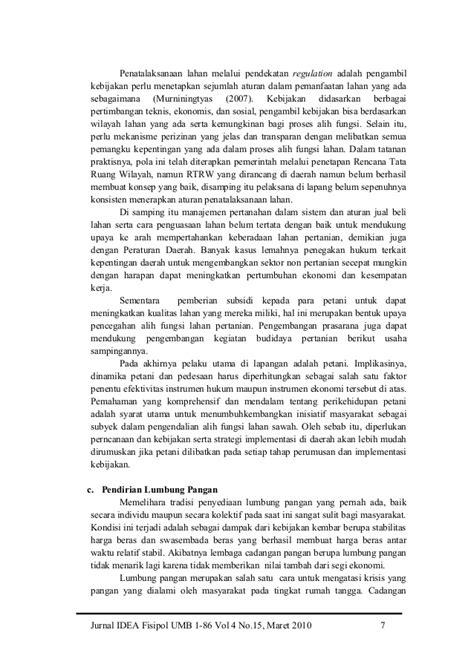 Otonomi Daerah dan Permasalahan Ketahanan Pangan