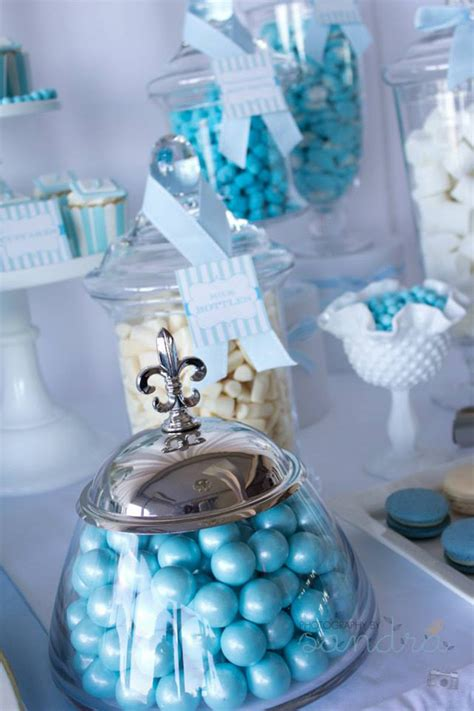 blue christening decorations kara s ideas blue christening birthday